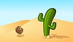 Desert cactus animation