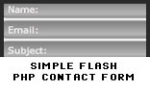 simple flash php contact form