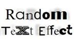 Random Text Effect