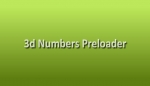 3D Number preloader &#13;