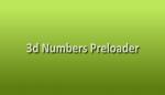 3D Number preloader