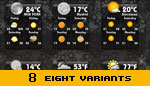Weather Widget eight variants