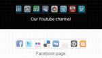 Social Networks scrolling Menu - 2 Skins