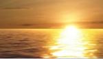 Golden Sparkling Ocean Sunrise