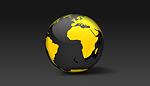 Spinning 3D Earth Globe