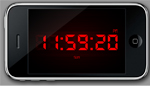 iPhone clock
