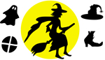 Halloween silhouettes illustration