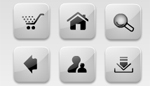 Flash Glassy White web icons