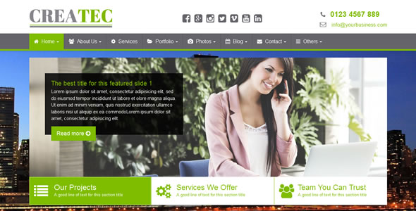 CreaTec - Business Website Template - click for preview