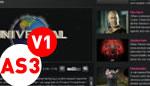 HTML XML Video List AS3 V1 FLV Player