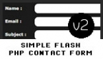 simple flash php contact form v2