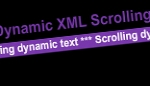 Dynamic XML Scrolling Text