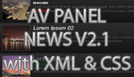 AV Panel News V2.1 with XML and CSS