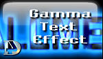 Gamma Text effect